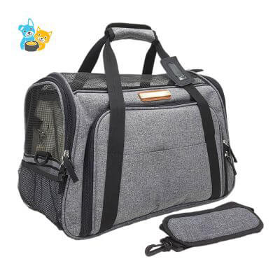 Foldable Expanded Tote Pet Carrier Bag