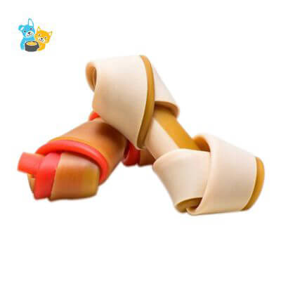 Dogs Small 2 Color Knotted Bone Chews