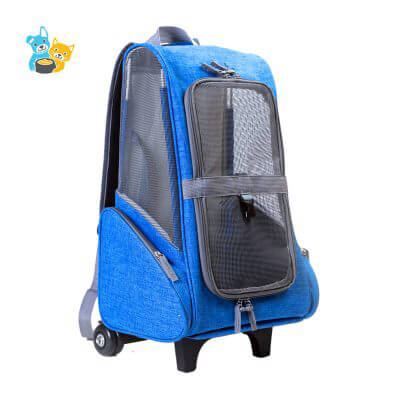 polyester trolley pet carrier backpack